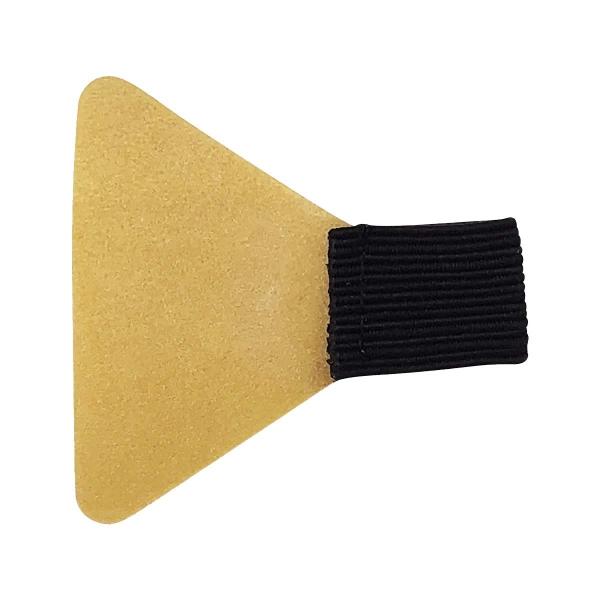 Stiftschlaufe, mit Schlaufe aus Flachgummi, Klebefläche trapezförmig, selbstklebend, schwarz