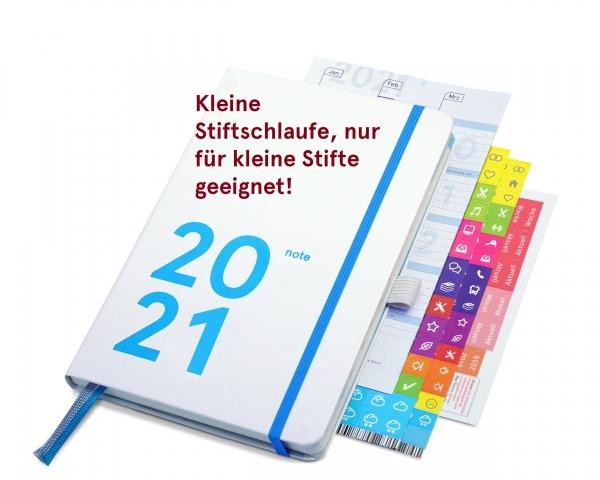 compact note Plus 2021 | white edition (mit Froschtasche und kleiner Stiftschlaufe)