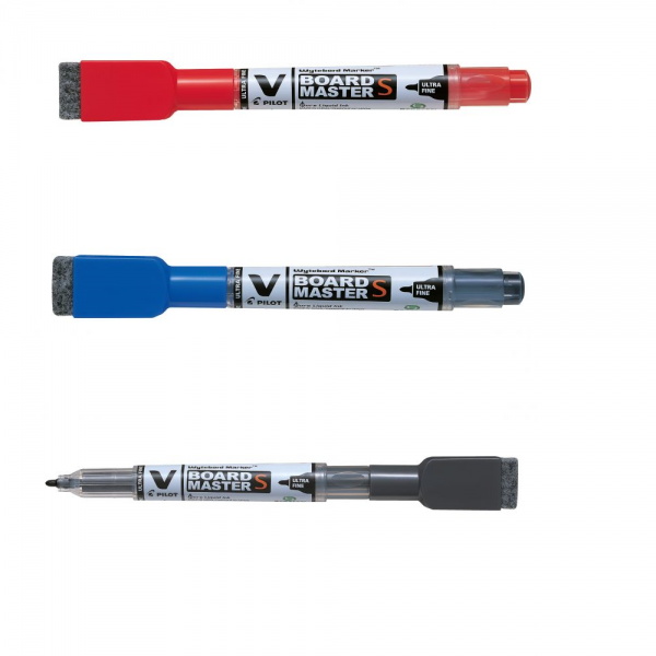 Magnetisches Pilot V-Board Master Set S - F - 0,8 mm blau, schwarz, rot - Ultra Fein