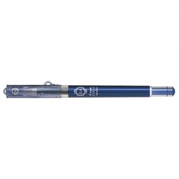 Pilot G-Tec-C Maica Tintenroller Blau Schwarz – Ultra-feiner Techpoint-Gelstift – 0,4 mm