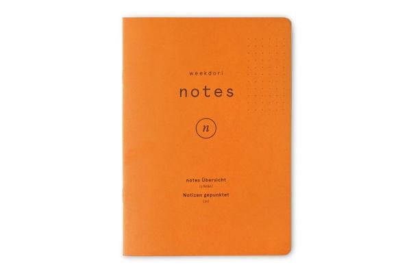 weekdori notes A6 aus Gmund Papier gefertigt (geeignet für Traveler's notebooks und Dori-Systeme)
