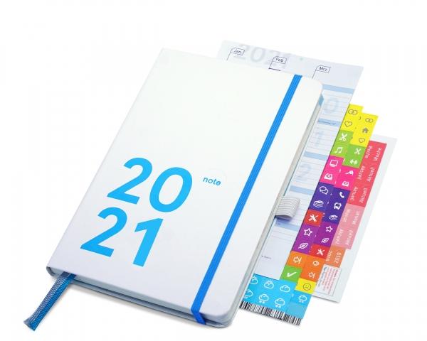 compact note Plus 2021 | white edition (mit Froschtasche und Stiftschlaufe)