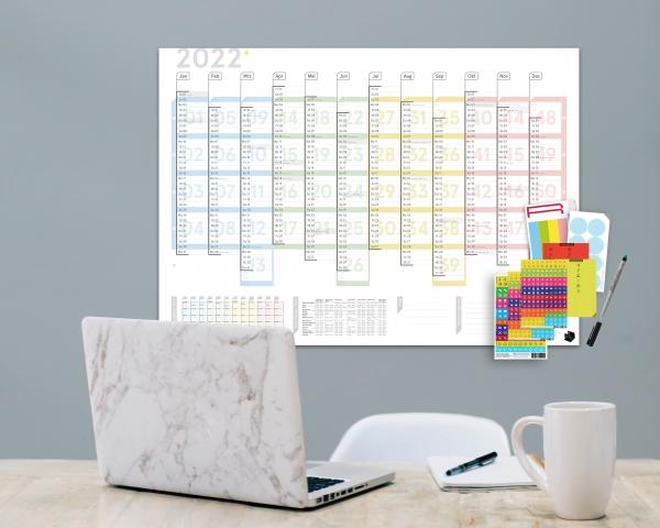 Wandplaner Plus 2022, DIN A1, abwischbar