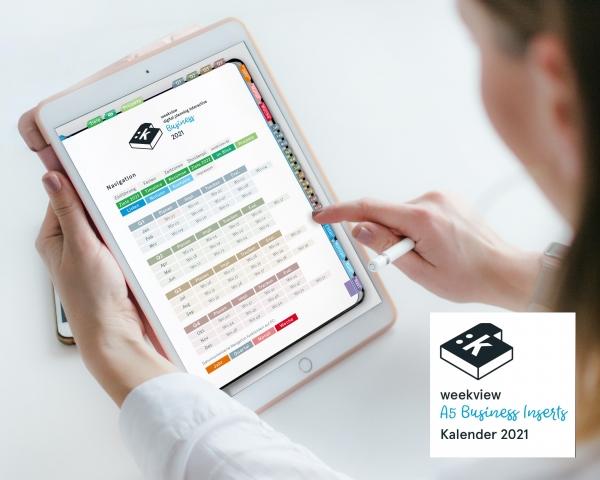 Digital Planner | Business 2021 | mit Navigation, einseitig