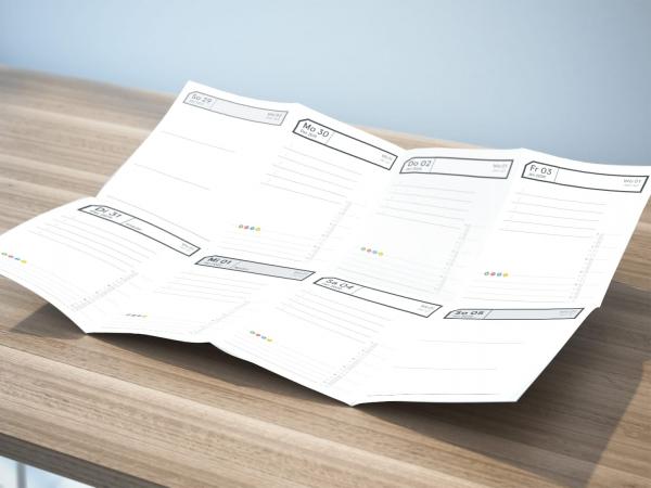 PDF Druckversion | weekview Tiny Woche Quartal 4