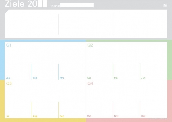 weekview   ZielePad A4 Block