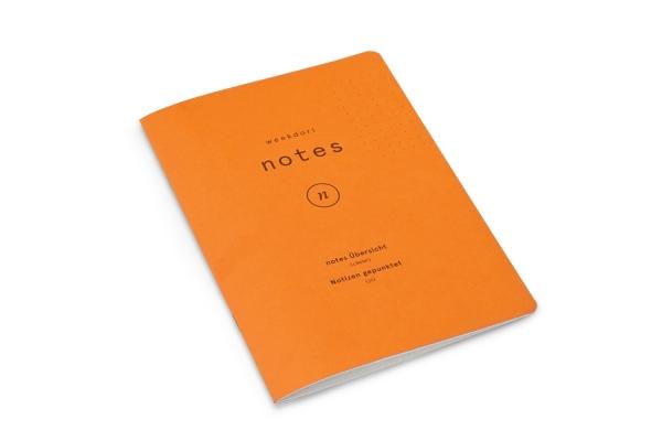 weekdori notes A5 aus Gmund Papier gefertigt (geeignet für Traveler's notebooks und Dori-Systeme)