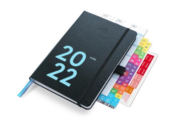 compact note Plus 2022 | Mit Froschtasche, Stiftschlaufe, Griffregister und Tafelplaner