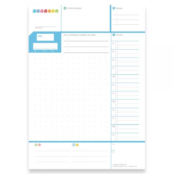 5 x weekview A5 DayPad 2.0 | Der NotizBlock für das Wichtigste des Tages