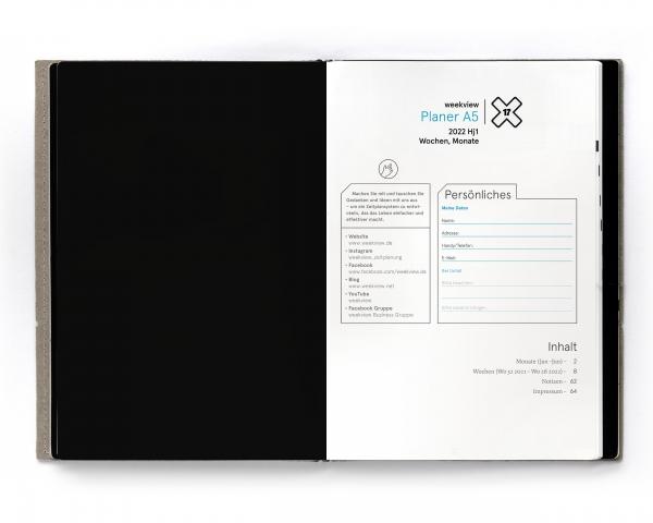 Set A5 X17 Business 2022 (4 Hefte inkl. Tools)