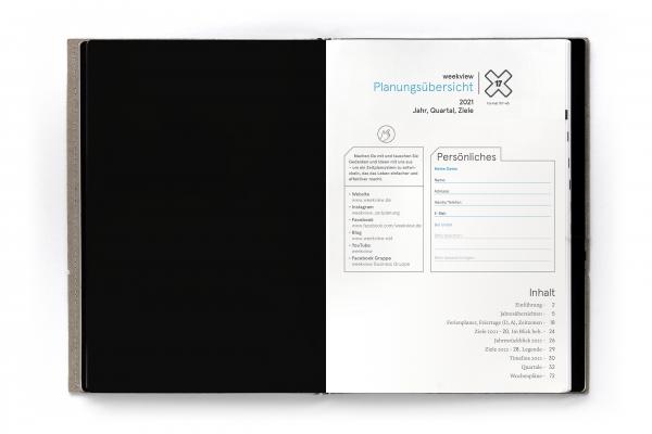 Druckversion (PDF) | A5 weekview X17 2021 Planungsübersichten