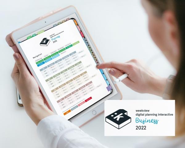 Digital Planner   Business 2022   mit Navigation, einseitig