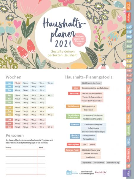 Digital Planner | Haushaltsplaner 2021 | mit Navigation