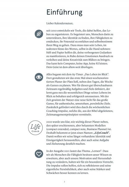 Druckversion PDF| 1seitig | Das Leben im Blick 2021 – LifeCoach A5