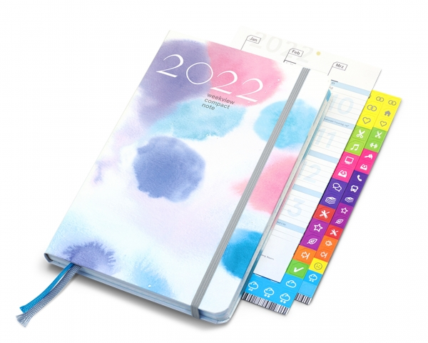 compact note 2022   watercolour dots edition