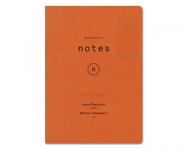 weekdori notes A5 feinkariert