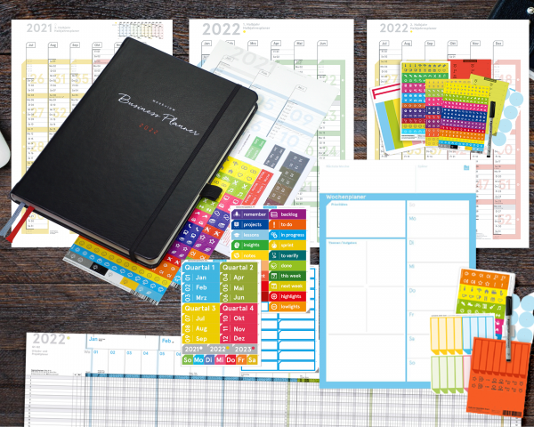 "Business Planner 2022 | Bundle 3 ""Wandplaner"""