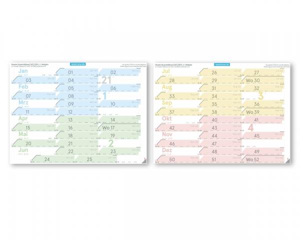 Quartal Label 2021 für Q-Board (Q1, Q2, Q3, Q4)