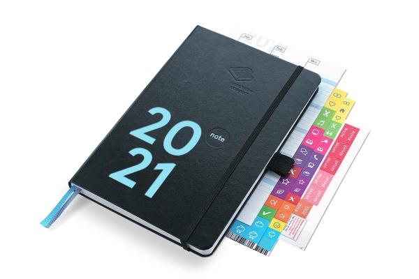 compact note Plus 2021 | Mit Froschtasche, Stiftschlaufe und Tafelplaner