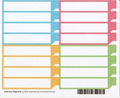 weekview Bapperl M - farbig sortiert | repositionierbar, mit der praktischen Lasche!