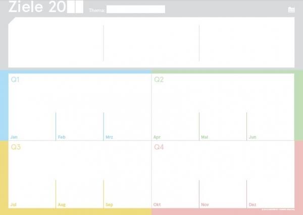 weekview | Ziele Board A2, abwischbar + V-Board Master magnetisch