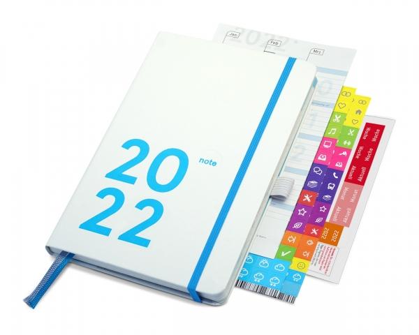 compact note Plus 2022 | white edition (mit Froschtasche und Stiftschlaufe)