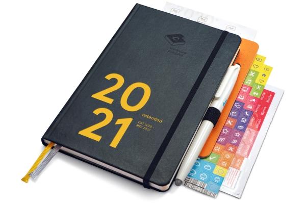 compact extended Premium 2021 (mit Froschtasche, Stiftschlaufe, FriXion, Griffregister, Notizheft)