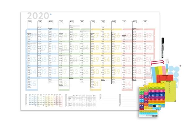 Wandplaner Colour 2020, DIN A1, abwischbar
