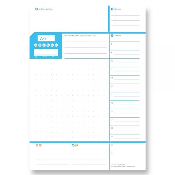 weekview A5 DayPad | Der Block für das Wichtigste des Tages