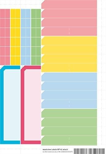 Zubehör zum A1 Wandplaner abwischbar inkl. 150 Sticker M
